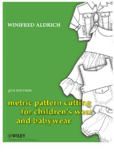 Metric pattern cutting for children's wear and babywear : from birth to 14 years