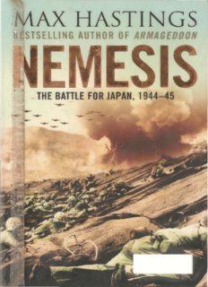 Nemesis : The Battle for Japan, 1944–45