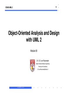 Object-Oriented Analysis and Design with UML 2