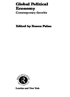 Global Political Economy: Contemporary Theories (Routledge Ripe Studies in Global Political Economy)