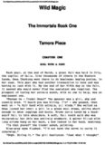 Pierce, Tamora - Immortals 1 - Wild Magic