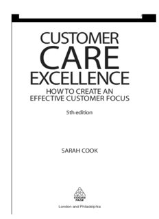 Customer Care Excellence: How to Create an Effective Customer Focus (Customer Care Excellence: How to Create an Effective Customer Care)