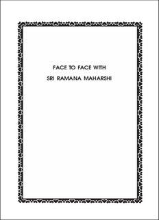 FACE TO FACE WITH SRI RAMANA MAHARSHI