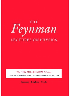 The Feynman Lectures on Physics, Desktop Edition Volume II