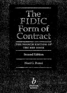 The FIDIC Form of Contract: The Fourth Edition of  The Red Book