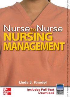 Nurse to nurse. Nursing management
