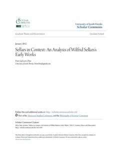 Sellars in Context: An Analysis of Wilfrid Sellars's Early Works