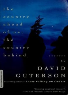 The Country Ahead of Us, the Country Behind Stories