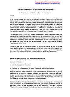 SWAMI VIVEKANANDA ON THE VEDAS AND UPANISHADS.pdf