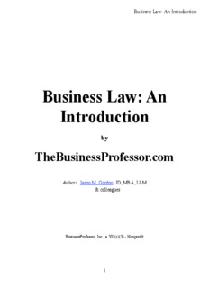 Business Law- An Introduction