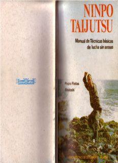 Ninpo Taijutsu: Manual de Técnicas básicas de lucha sin armas