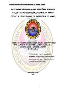 facultad de geología, geofísica y minas escuela profesional de ingeniería de minas