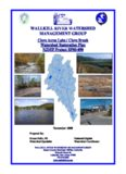 Clove Acres Lake/Clove Brook Watershed Restoration Plan