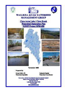 Clove Acres Lake/Clove Brook Watershed Restoration Plan