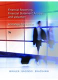 1 Overview of Financial Reporting, Financial Statement Analysis, and Valuation