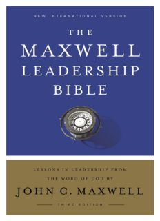 NIV, Maxwell Leadership Bible, 3rd Edition