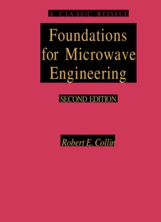 Foundations for Microwave Engineering