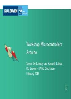 Workshop Microcontrollers Arduino - laras