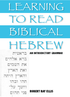 TO READ LEARNING BIBLICAL HEBREW - Christian Identity Forum