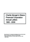 Wesco Charlie Munger Letters 1983