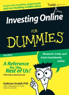 Kathleen Sindell - Investing Online for Dummies - Trading Software