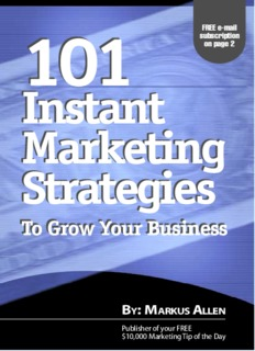 101 Instant Marketing Strategies - Kolegji Fama