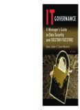 IT Governance: A Manager's Guide to Data Security and ISO 27001   ISO 27002