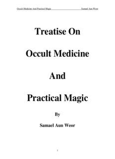 Treatise On Occult Medicine And Practical Magic - Samael Aun Weor