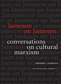 Jameson on Jameson : conversations on cultural Marxism
