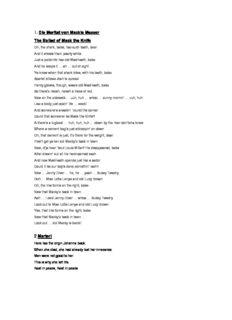 1. Die Moritat von Mackie Messer The Ballad of Mack the Knife 2 Marterl