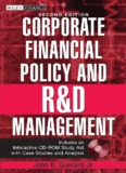 FINANCE Corporate financial policy and R and D Management