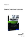 Demand and Supply Planning with SAP APO - SAP PRESS - Bücher zu