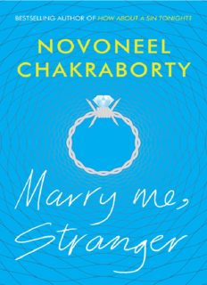Stranger Triology - Book 1 - Marry Me Stranger