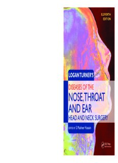 Logan Turner's Diseases of the Nose, Throat and Ear: Head and Neck Surgery