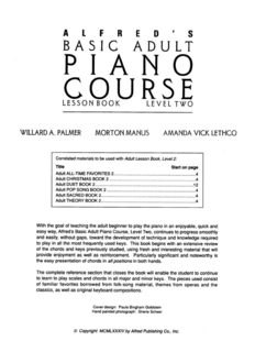 Alfred's Basic Adult Piano Course Lesson Book, Level 2 by Manus Morton