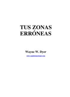 Tus Zonas Erróneas (Wayne W. Dyer) - WordPress.com