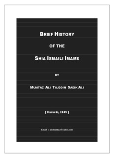 brief history of the shia ismaili imams - First Ismaili Electronic Library