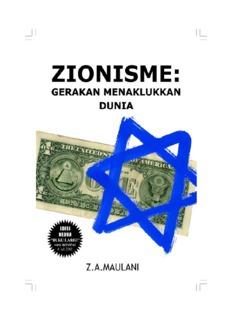 Zionisme Gerakan Menaklukan Dunia - Biar sejarah yang bicara