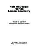 Holt McDougal Florida Larson Geometry