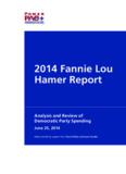 2014 Fannie Lou Hamer Report