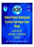 Hebert-Poteat Subtropical Cyclone Technique Case Study Hebert-Poteat Subtropical Cyclone