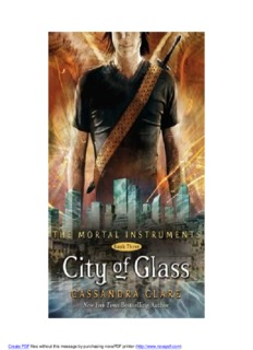 City of Glass Bk 3