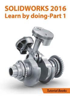 Tutorial Books. SOLIDWORKS 2016 Learn by doing - Part 1