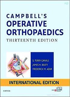 CAMPBELL'S OPERATIVE ORTHOPAEDICS