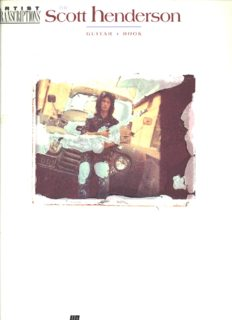Scott Henderson Guitar Book