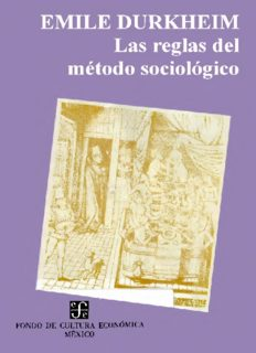 Las reglas del metodo sociologico/ The Rules of the Sociological Method