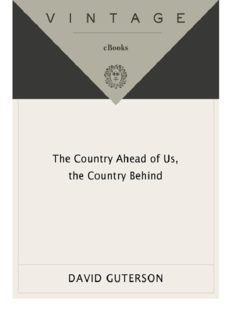 The Country Ahead of Us, the Country Behind - Stories