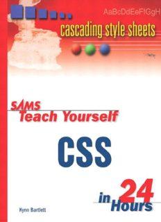 Sams Teach Yourself CSS in 24 Hours (Sams Teach Yourself in 24 Hours)