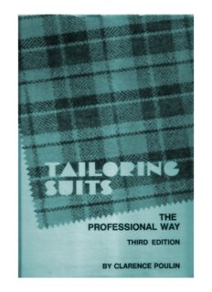 Tailoring suits : the professional way