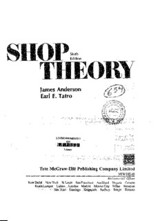 shop theory by anderson